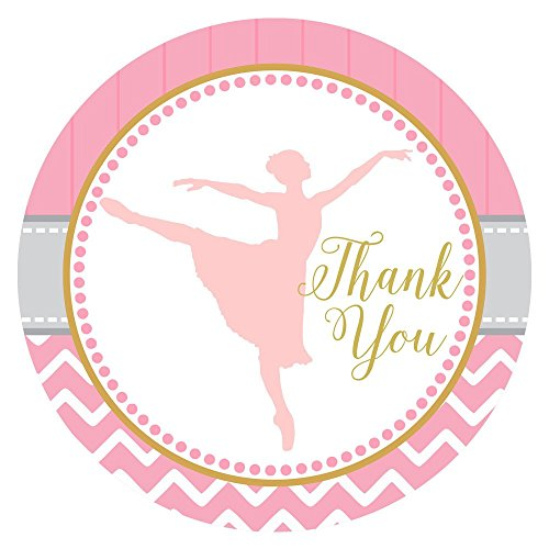[Dancing Ballerina Thank You Sticker Labels - Birthday Baby Shower Ballet Recital Party - Set of 30] (Best Dance Moms Costumes)