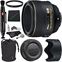 Nikon AF-S NIKKOR 58mm f/1.4G Lens + 72mm Multicoated UV Filter + Microfiber Cleaning Cloth + Lens Pen Cleaner + 5 piece Lens Cleaning Kit Bundle