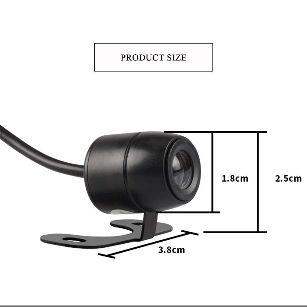 EBILUN Universale Mini Farfalla Stile Impermeabile grandangolare 170//° HD Car Rear//Front View Telecamera