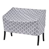 MS HOME Trellis Patterned Patio Stackable Quilted Lounge Cover w/Metal Grommets - Durable, Indoor, Outdoor - 64''L x 37''W x 33''H