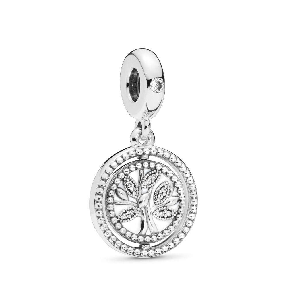 PANDORA Spinning Tree of Life 925 Sterling Silver Charm - 797786CZ