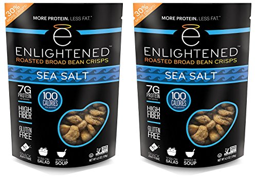 Enlightened - The Good-For-You Crisp, Roasted Broad Beans, Sea Salt, 4.5 Ounce (2-pack) ()