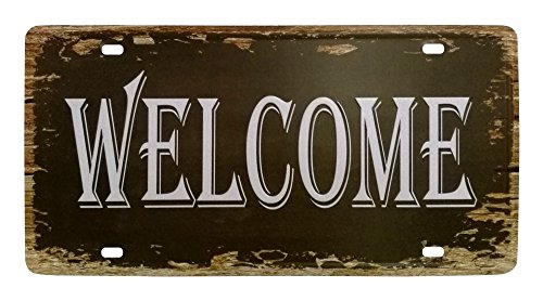 VASTING ART Decorative Signs Tin Metal Iron Sign Painting Welcome For Wall Home Office Bar Coffee Shop