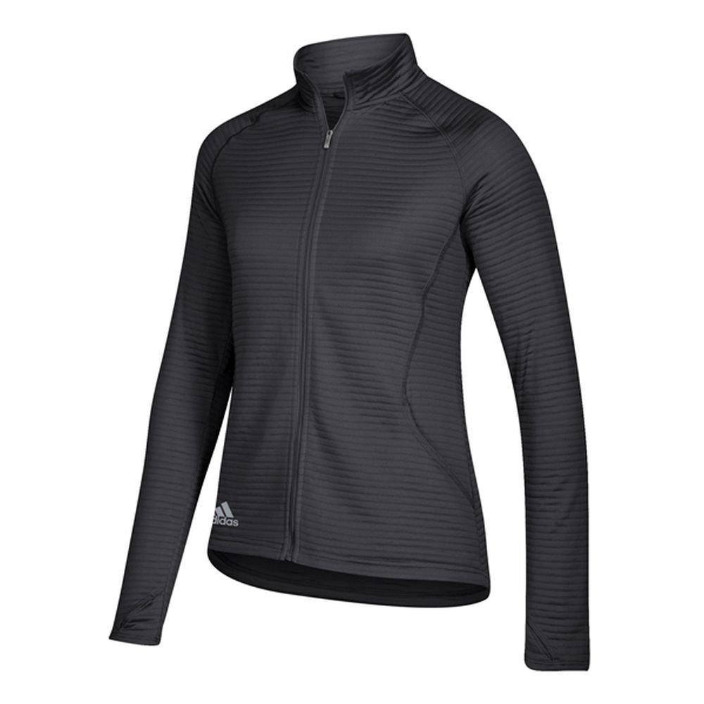 adidas Golf Women's Essential Full Zip Textured Jacket, Black, XX-Large by adidas