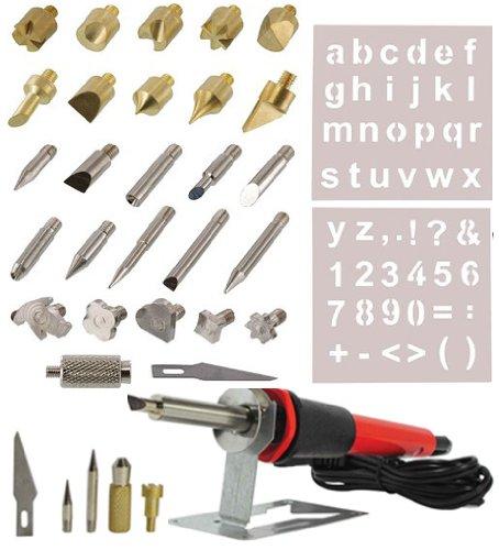 35pc-wood-burning-pen-set-wood-burning-soldering-chiseled-tips-hot-blade-with-chuck