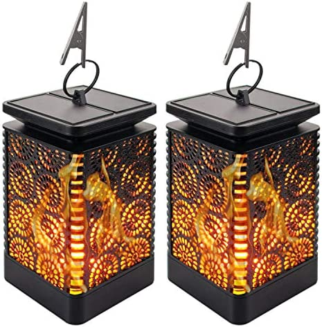 Solar Lantern Lights Outdoor Flame product image