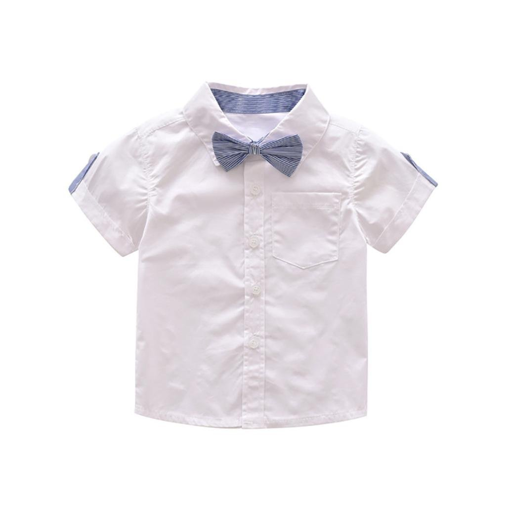 Hosentr/äger Shorts Set Baby Jungen M/ädchen Sommer Herren Bowtie Kurzarm Shirt