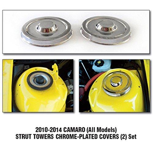 Camaro Strut Towers Billet Chrome Covers 2Pc. Set Chrome Strut Tower Cover