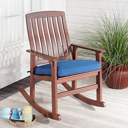 Delahey Wood Porch Rocking Chair, Light Brown