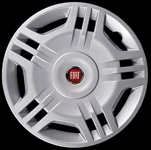 4 CODICE 1213 LR Diametro 14 Logo Rosso Nuovo Generico Fiat Nuova Punto COPRICERCHI Borchie Quattro
