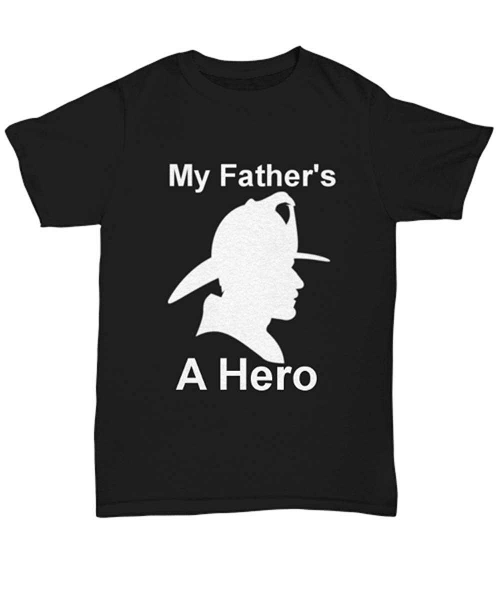 Unisex Tee Kutters My Fathers a Hero Black Unisex Tshirt