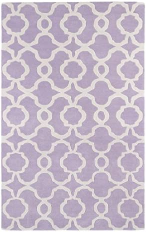 Kaleen Rugs Revolution Collection REV03-90 Lilac Hand Tufted 3 x 5 Rug