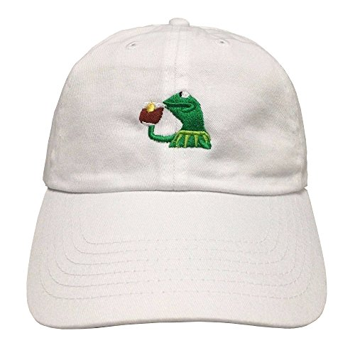 KERMIT TEA Hat (Snap Back) none of my business emoji King james meme Cap