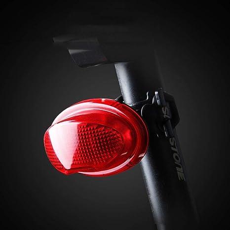 Mercery USB Impermeable LED Rojo Indicador de luz Trasera de Bicicleta Luz Intermitente de Advertencia Potente lámpara de Cola de Bicicleta a Prueba de Lluvia Super Brillante COB Ciclismo Iluminación: Amazon.es: Deportes