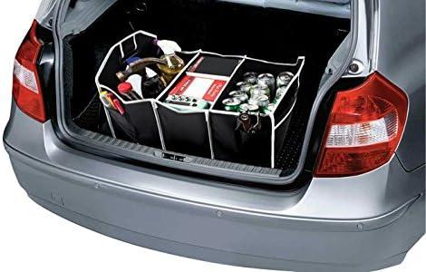 Strapazierf/ähiges Leder-Multifunktions-Autozubeh/ör,Braun FYLY-Auto Kofferraum Organizer Faltbarer Kofferraum-Organizer-Aufbewahrungsbeh/älter Rutschfestes