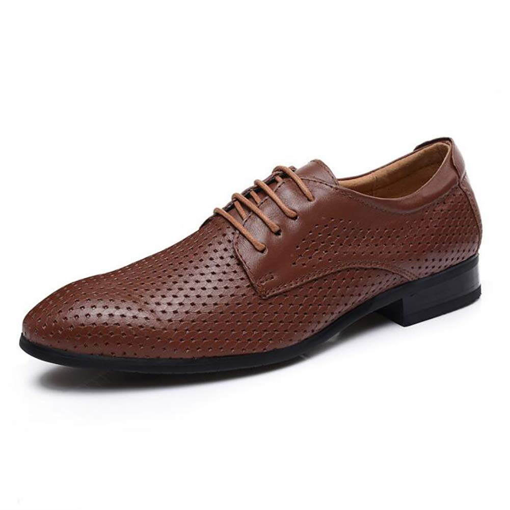 Men's Leather Shoes Summer New Leather Breathable Dress Hollow Business Dress Breathable Sandals Men's Leather Shoes (Color : B, Size : 39) 39|B B07GQHQGYG ea024d