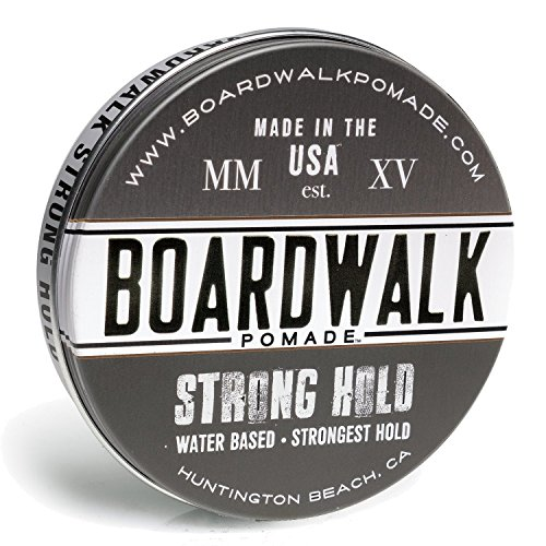 Boardwalk Pomade Strong-Hold Pomade 4.5oz, Aloe Vera Pomade, Vegan, Paraben Free. ()