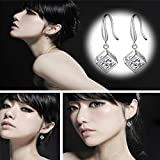 Topdo 1 Pair Lady Fashion Silver Color Shiny