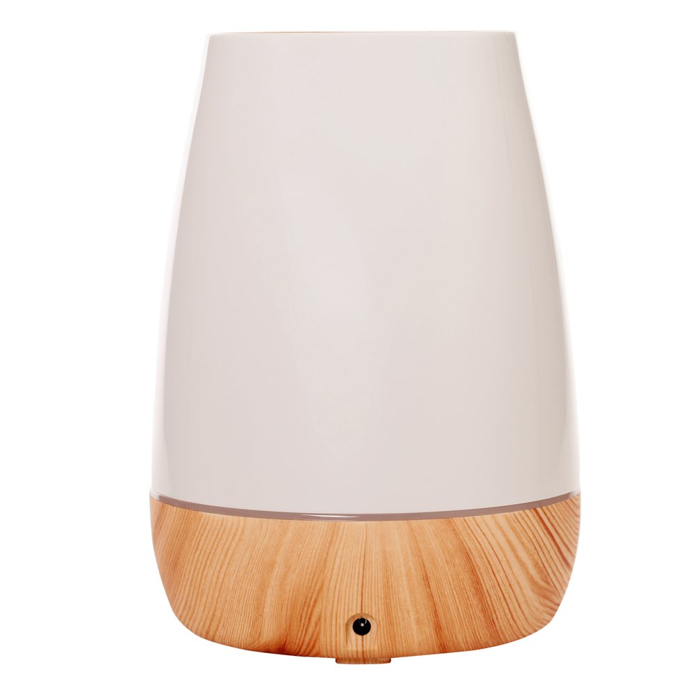 Wansu 500ml Aroma Essential Oil Diffuser, Ultrasonic Cool Mist Humidifier Air Humidifier with 7 Color LED Waterless Auto Shut-off,for Home, Yoga, Office, Spa, Bedroom, Baby Room;Light Wood Grain by Wansu (Image #2)