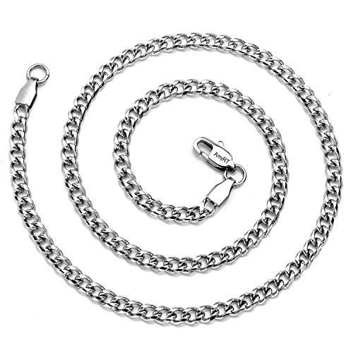 Buy titanium necklace for men baseball