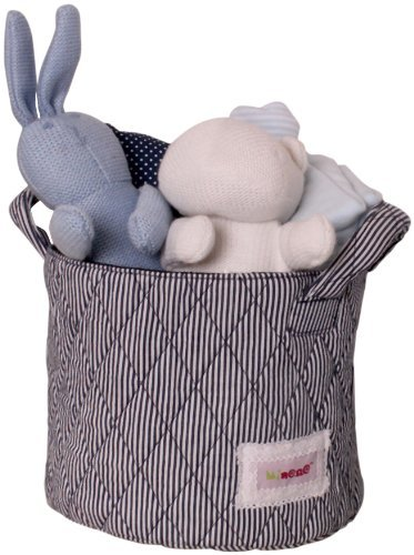 Minene UK Ltd Storage Basket with Stripes (Small, White/ Navy) by Minene by Minene UK Ltd