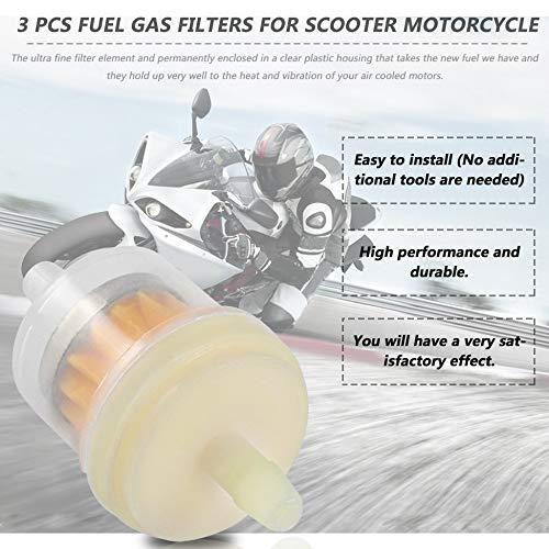 arancia 3 Pz//lotto Filtri gasolio universale Filtro olio per scooter moto per KART per ROKETA per TAOTAO