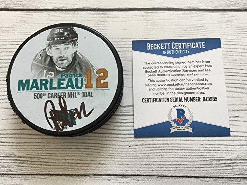 Patrick Marleau Signed 500th Goal Hockey Puck San Jose Sh...