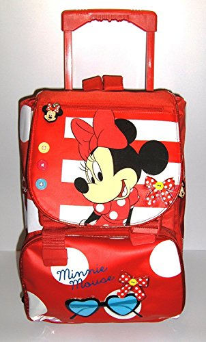 cd5dc9522e ZAINO TROLLEY ESTENSIBILE MINNIE MOUSE SCUOLA 2014 cm 40x27x12(+7 ...