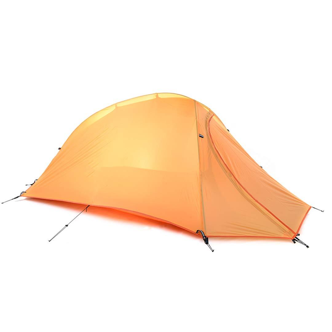AX-outdoor products Zelten des Zeltens des Zeltes einzelnes, tragbares Zelt des Zeltes im Freien Doppeltes Wasserdichtes Plaidzelt Orange Farb