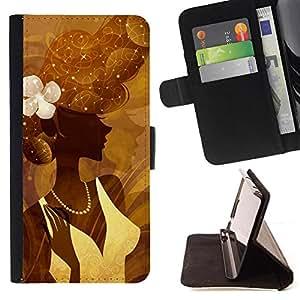 Kingstore / - Señora de Brown con el grano y del vestido - Sony Xperia M2