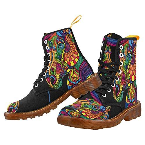 Scarpe Da D-story Moda Stringate Martin Boots Da Uomo Multicoloured23