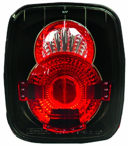 IPCW CWT-CE407CB Crystal Eyes Bermuda Black Tail Lamp - Pair
