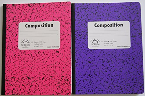 Pink and Purple College Ruled Composition Notebook - Pack of 2