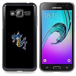 "Qstar Arte & diseño plástico duro Fundas Cover Cubre Hard Case Cover para Samsung Galaxy J3(2016) J320F J320P J320M J320Y (Azul P0kemon"")"