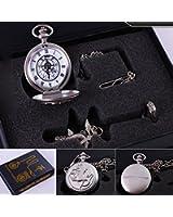 Generic Fullmetal Alchemist Anime Pocket Watch, Necklace & Ring