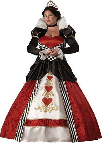 UHC Women's Queen of Hearts Outfit Holiday Theme Fancy Dress Plus Size Costume, 3XL (Cheap Queen Of Hearts Costumes)