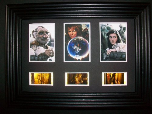 LABYRINTH Framed Trio 3 Film Cell Display Movie Memorabilia Compliments poste...