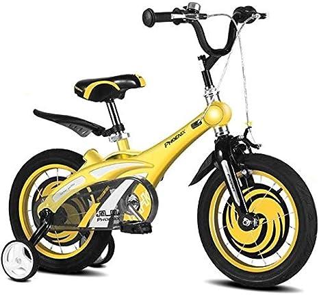 HWZQHJY Bicicleta Infantil for niños y niñas, 12 14 16 Pulgadas de ...