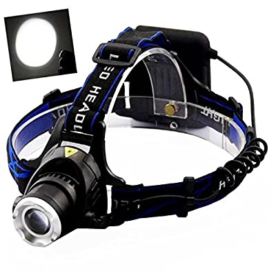 Meyoung LED Headlamp Super Bright 3 Modes Hands-free for Backpacking Camping Cyclist
