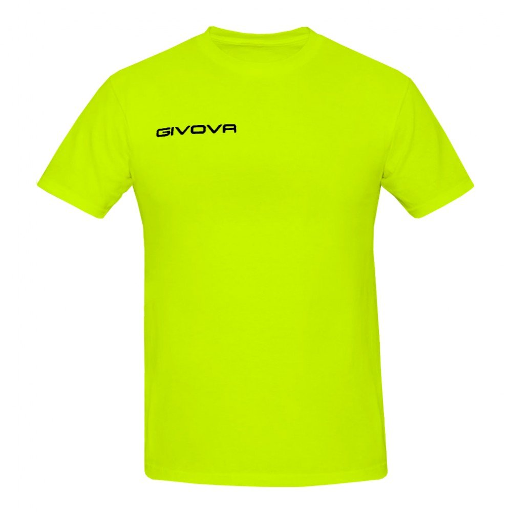 TALLA 2XL. Givova, t-shirt fresh, amarillo fluo, 2XL