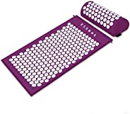 ELEBOX®Acupressure Mat Massage Acupuncture Mat and Pillow Set Ideal for Neck, Back and Shoulder Pain Remedy an