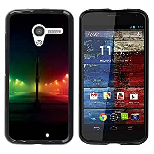 Be Good Phone Accessory // Dura Cáscara cubierta Protectora Caso Carcasa Funda de Protección para Motorola Moto X 1 1st GEN I XT1058 XT1053 XT1052 XT1056 XT1060 XT1055 // Night Rain