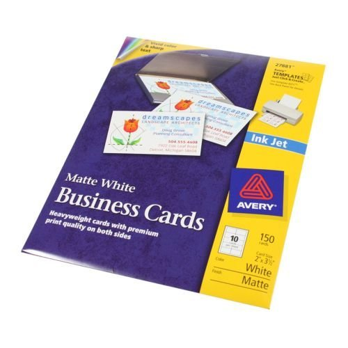 Amazon avery 2in x 3 12in cleanedge white inkjet business amazon avery 2in x 3 12in cleanedge white inkjet business cards 150 cards 15 sheets inkjet printer paper office products colourmoves
