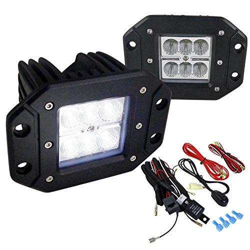 (Spec-D Tuning LF-3806FSQX2 Fog Light (Cube Off Road Work Driving Wiring Harness Switch Kit))