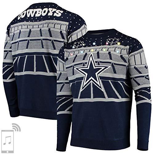 FOCO NFL Dallas Cowboys Mens Light Up Bluetooth Speaker Sweaterlight Up Bluetooth Speaker Sweater