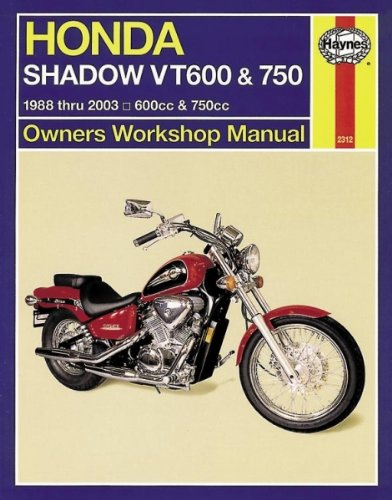 1988-2014 Haynes M2312 Honda Shadow VT600 and VT750 Repair Manual