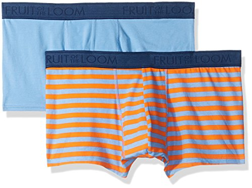 Fruit of the Loom Men's Cotton Stretch Boxer Brief Low Rise Trunk (Pack of 2), Print/Solid, X-Large