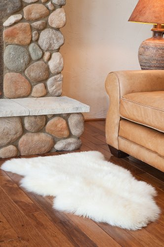 Overland Single-Pelt (2' x 3.5') Premium Australian Sheepskin Rug - Premium-grade genuine Australian sheepskin single-pelt rug Generously sized with a luxurious pile, perfect for the floor or over your favorite chair - living-room-soft-furnishings, living-room, area-rugs - 51Gsg1h1MUL -