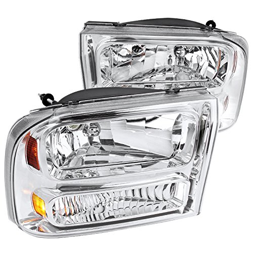1 Euro Headlights Piece (Spec-D Tuning 2LH-F250991PC-ABM Chrome Headlight (1 Piece Euro))