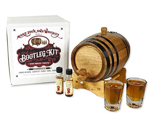 Bootleg KitTM Barrel Aged Kentucky Bourbon Making Kit (2 Liter) (Best Homemade Wine Making Kit)